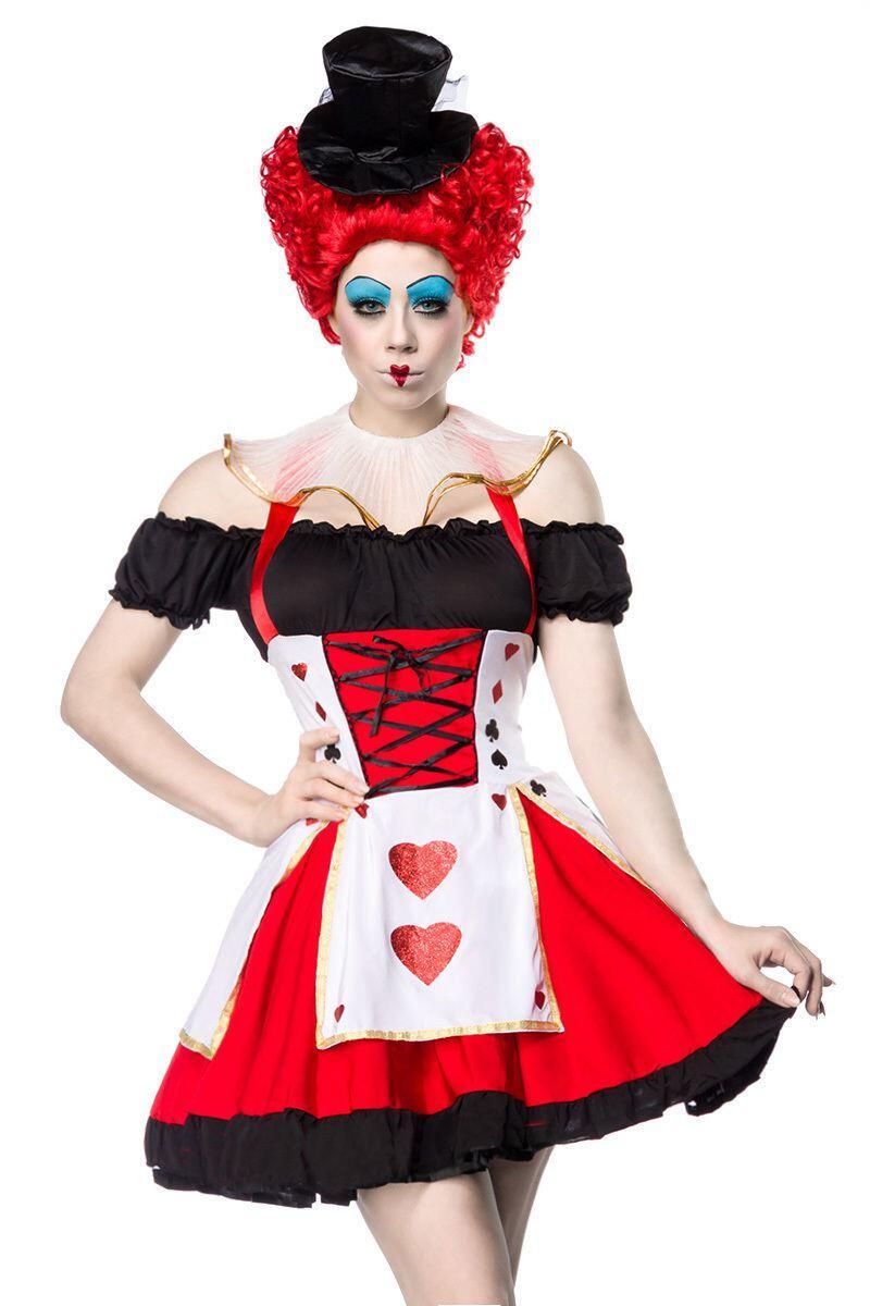 Karneval Damen Kostum Herzkonigin Red Queen Faschingskram