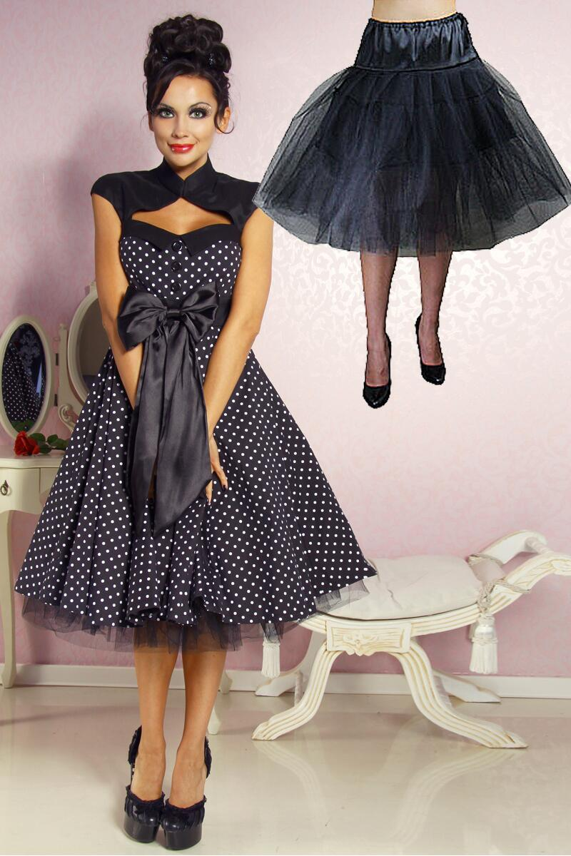 Damen Kleid Abiballkleid Sixties Rockabilly Dotty Faschingskram