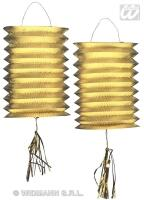 Lampion Zug-Laterne metallic Farbwahl