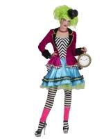 Karneval Damen Kostüm Hutmacher Wicked Mad Hatter
