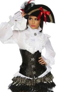 Damen Unterbrust Corsage Steampunk Piratin