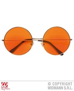 Widmann Karneval 70er Hippie- Brille orange
