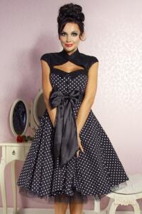 Damen Kleid Abiballkleid Sixties ROCKABILLY DOTTY