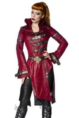Damen Steampunk-Mantel rot