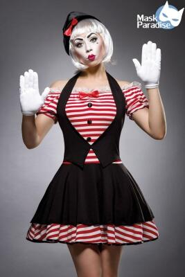 Karneval Damen Kostüm Clown Sexy Mime