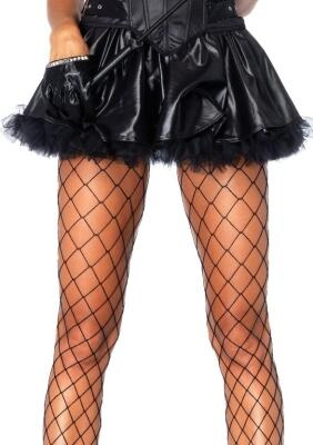 Leg Avenue Damen Petticoat-Rock Wetlook schwarz