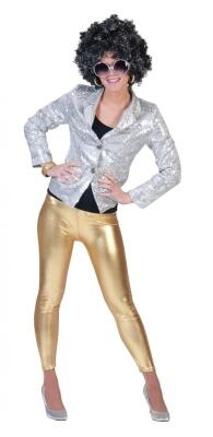 Karneval Damen Legging gold