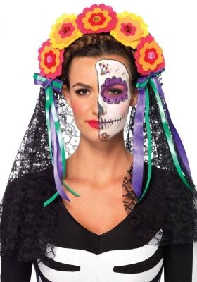 Karneval Halloween Haarreif Day Of The Dead