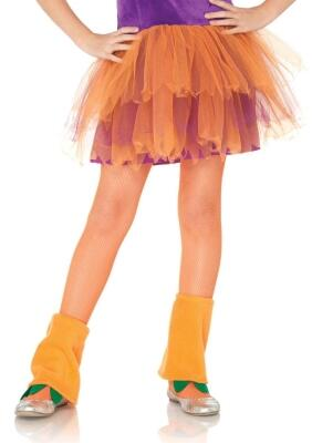 Leg Avenue Kinder Strumpfhose Netz orange