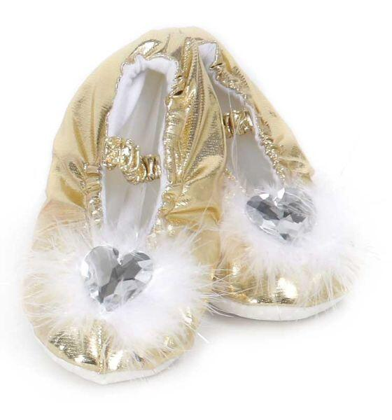 Schuhe Prinzessinnen Slipper gold